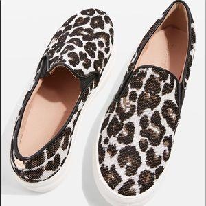 TOPSHOP Tucker Leopard Sneakers